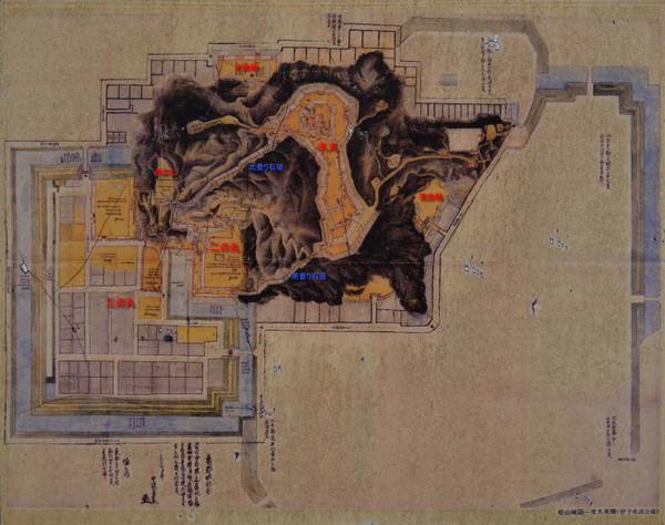 伊予松山城城絵図